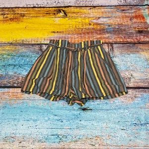 Forever 21 striped high waist tie short - Size S